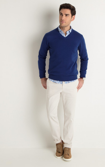 Pull coton outremer