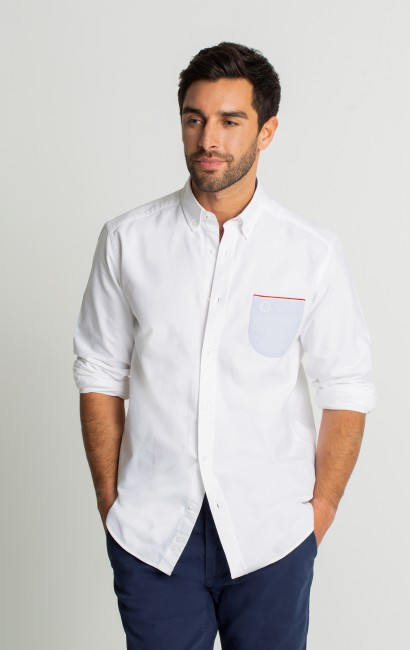Chemise casual regular blanche