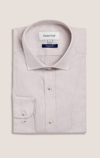 Chemise casual regular grès
