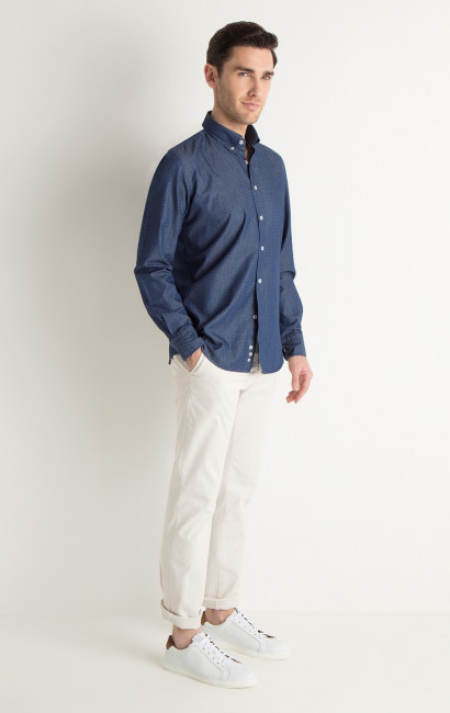 Chemise Casual chambray Slim