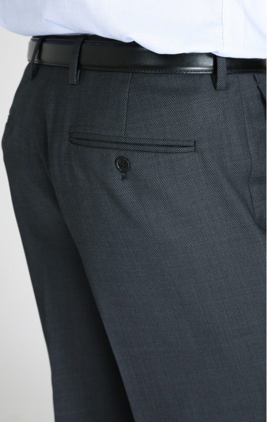 Pantalon laine anthracite regular